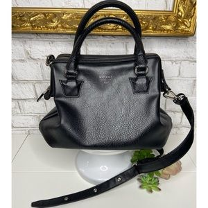 Matt & Nat Beige Dwell Black Vegan Leather Bag